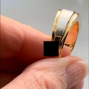 IB Goodman Accessories - NEW 14KTT Mens Heavy Duty Diamond Ring